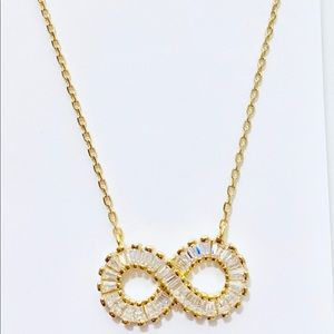 Infinity Sterling silver 925 gold necklace